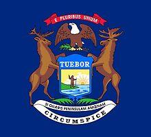 Michigan State Flag by Carolina Swagger