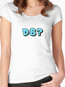 d8? in blue Women's Fitted Scoop T-Shirt