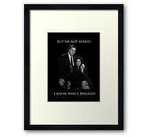 Hamilton x The West Wing - Look around, look around Framed Print