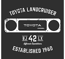 Toyota 40 Series Landcruiser BJ42 LX Square Bezel Est. 1960 Photographic Print