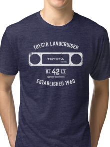 Toyota 40 Series Landcruiser BJ42 LX Square Bezel Est. 1960 Tri-blend T-Shirt
