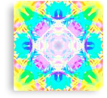 Abstract psychedelic pattern blue yellow Canvas Print
