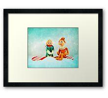 Elf First Date Framed Print