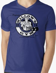 Willow's Gym Mens V-Neck T-Shirt