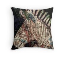 Street Zebra Throw Pillow
