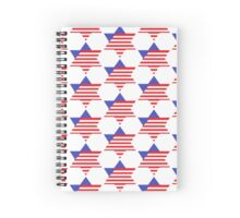 Stars and Stripes of David (smooth) Spiral Notebook