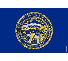 Nebraska State Flag Photographic Print