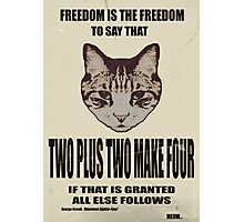 Orwellian Cat On Mathematics Photographic Print
