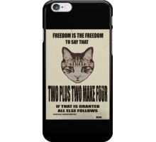 Orwellian Cat On Mathematics iPhone Case/Skin