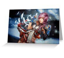Lightning Final Fantasy XIII Greeting Card
