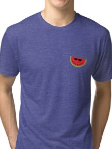 Funky Watermelon Tri-blend T-Shirt