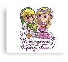 It's Dangerous to Play Alone Canvas Print