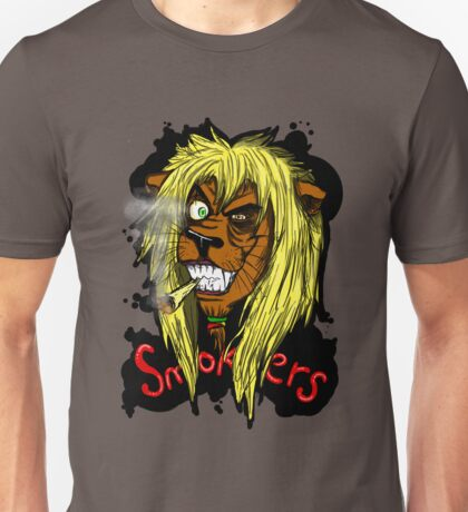 Smokers - the lion  Unisex T-Shirt