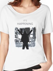 Mr Robot - It's happening Women's Relaxed Fit T-Shirt