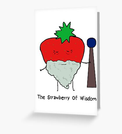 Strawberry of Wisdom Greeting Card