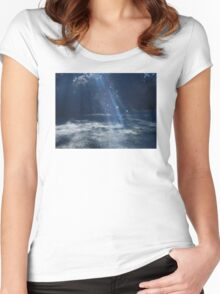 Fairy Lights Women's Fitted Scoop T-Shirt