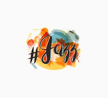Hashtag Jazz Lettering on Spot Background, orange and red Unisex T-Shirt