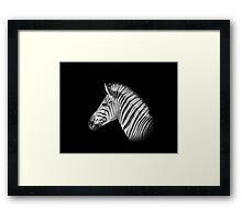 Black And White Zebra Portrait Framed Print