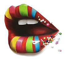 Candy Lips Photographic Print