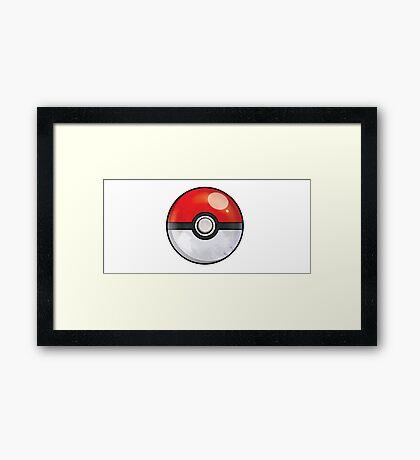 Pokeball Pokemon GO Framed Print
