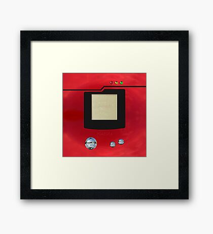 red retro pokedex Framed Print