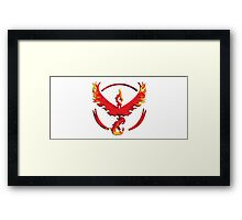 Pokemon GO Team Valor Framed Print