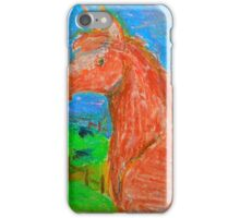 Chesnut horse in pastels iPhone Case/Skin