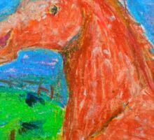 Chesnut horse in pastels Sticker
