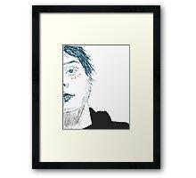 gerard way  - coloured Framed Print