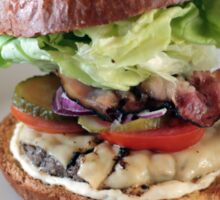 Grass Fed Bison Hamburger with Lettuce and Cheese Sticker