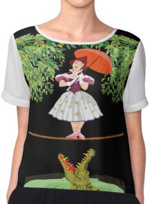 Cute halloween The crocodile girl Deadly circus Chiffon Top