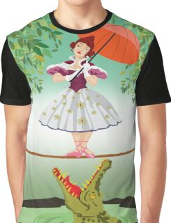 Cute halloween The crocodile girl Deadly circus Graphic T-Shirt