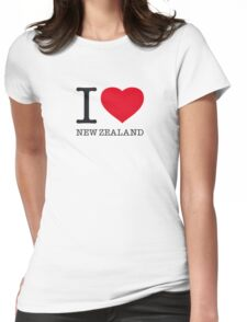 I ♥ NEW ZEALAND Womens Fitted T-Shirt