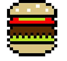 Pixel Hamburger Photographic Print