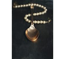 Born with a silver spoon Photographic Print