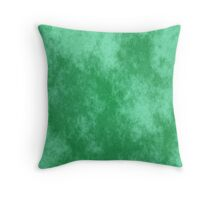 Green, old and faded Throw Pillow