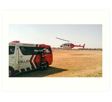 Medical evacutaion in Johannesburg Art Print