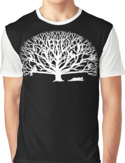 Tree Dwelling White Silhouette Graphic T-Shirt