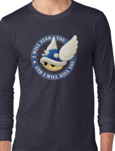 Menacing Blue Shell Long Sleeve T-Shirt
