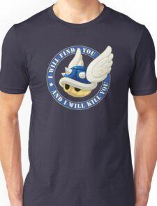 Menacing Blue Shell Unisex T-Shirt