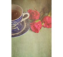 Tea and Roses.  Photographic Print