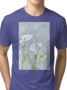 Arum lilies (and fireflies) at night Tri-blend T-Shirt