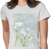 Arum lilies (and fireflies) at night Womens Fitted T-Shirt