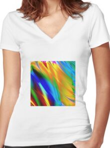 Vintage Geek Painting Women's Fitted V-Neck T-Shirt