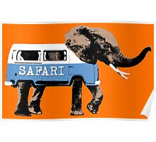 Elephant Safari Poster