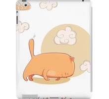 Red Yoga Cat in Four Limbed Staff Pose iPad Case/Skin