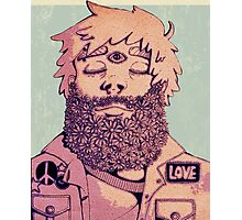 Flower Beard Love Photographic Print