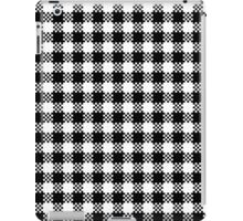 Black and white gingham pattern iPad Case/Skin