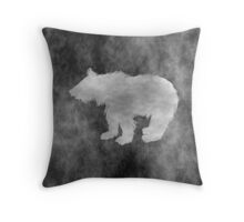 Dark Bear Artwork Throw Pillow