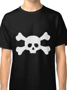 Simple White Crossbones Skull Classic T-Shirt